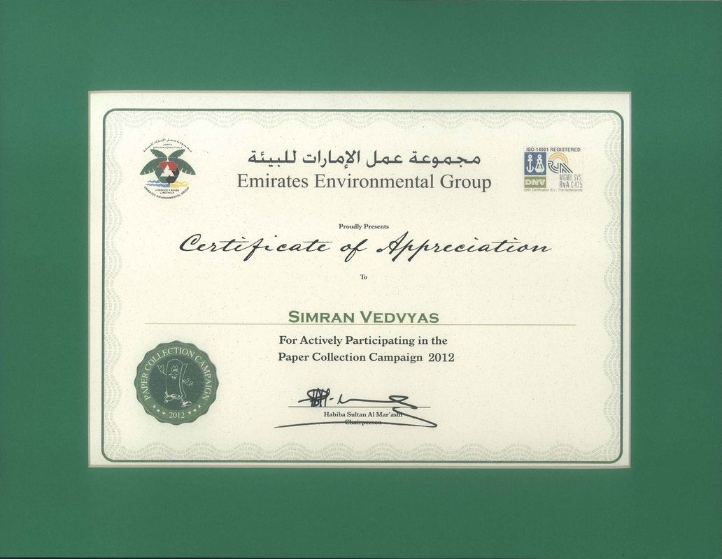 Awards and rewards synergy synergy received recognition and appreciation awarded by dubai municipality for green initiative by planting 120 trees at landfill site on earth day 2013 yelopaper Gallery